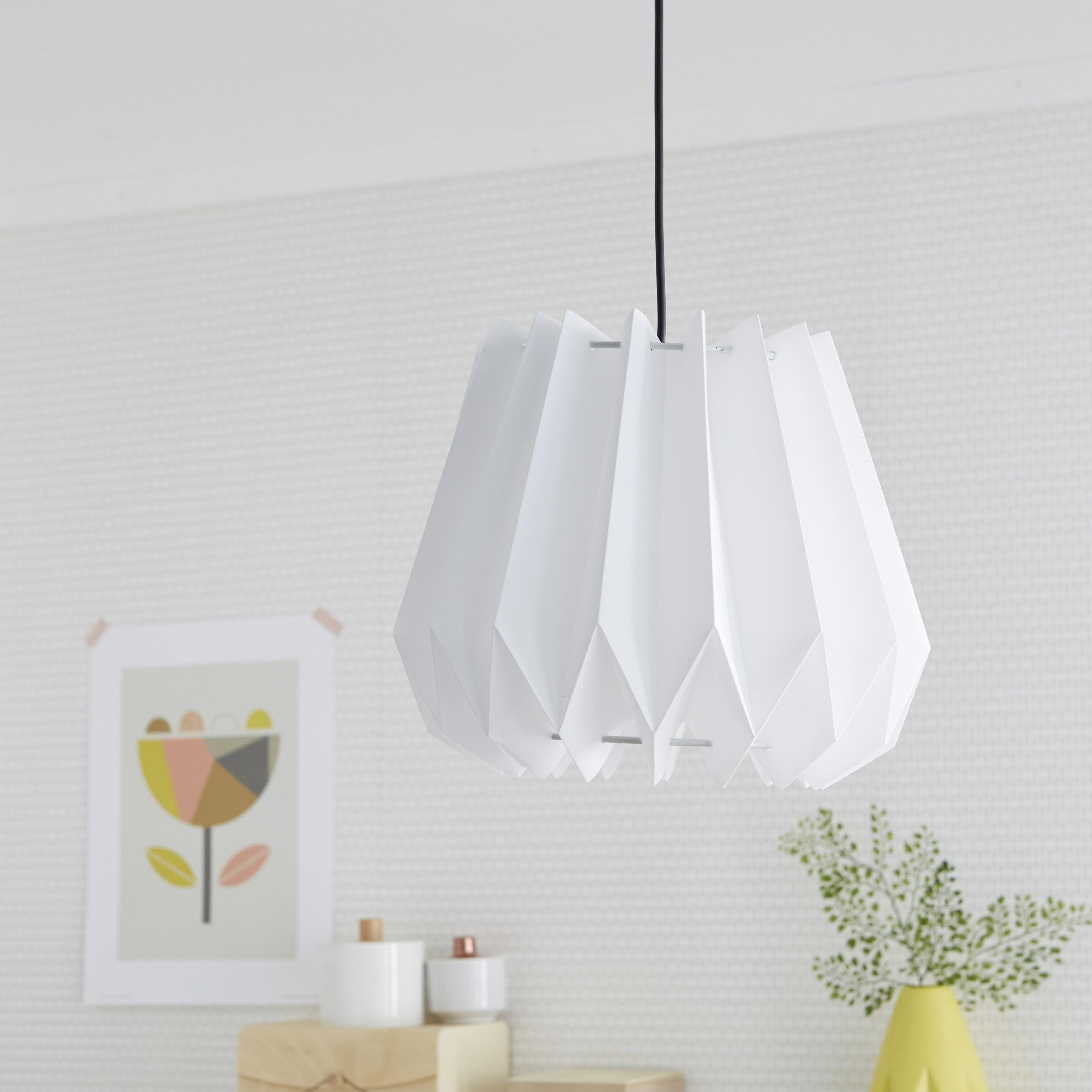 Suspension, sans cordon design Yucca plastique blanc 1 x 60 W INSPIRE