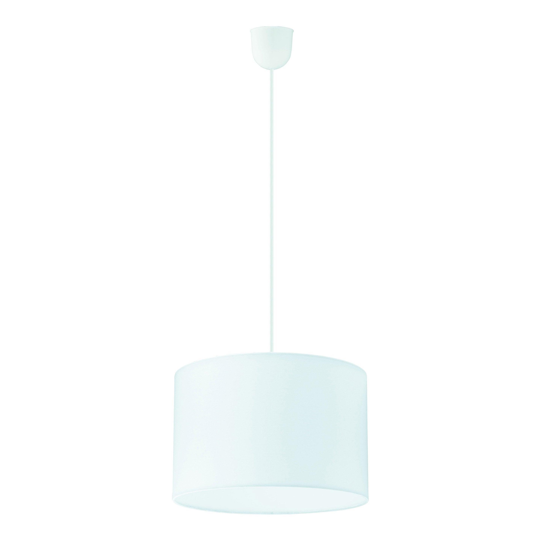Suspension tissu blanc INSPIRE Sitia 1 lumière(s) D.29 cm
