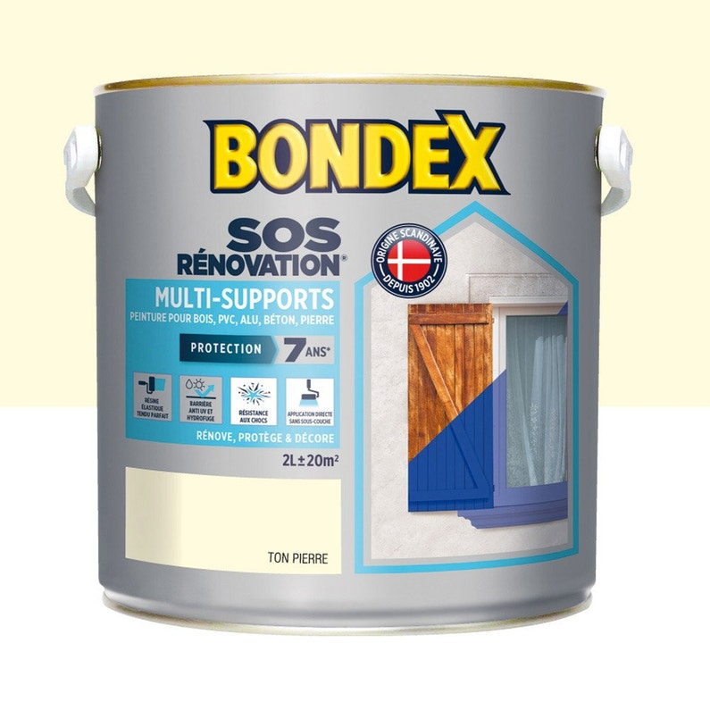 Peinture Extérieure Sos Renovation Multi Supports Ton Pierre 2 L Bondex
