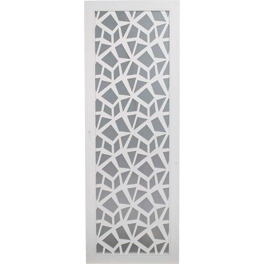 porte coulissante plaqu blanc crash artens 204 x 83 cm leroy merlin. Black Bedroom Furniture Sets. Home Design Ideas