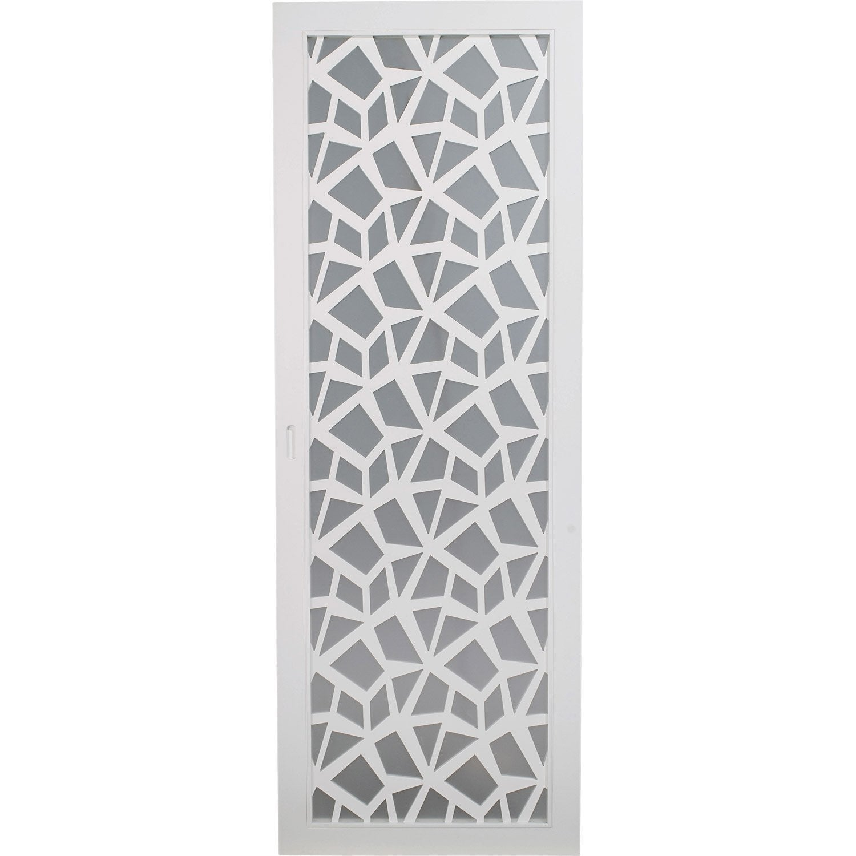 Porte coulissante, plaqué blanc Crash ARTENS, 204 x 73 cm