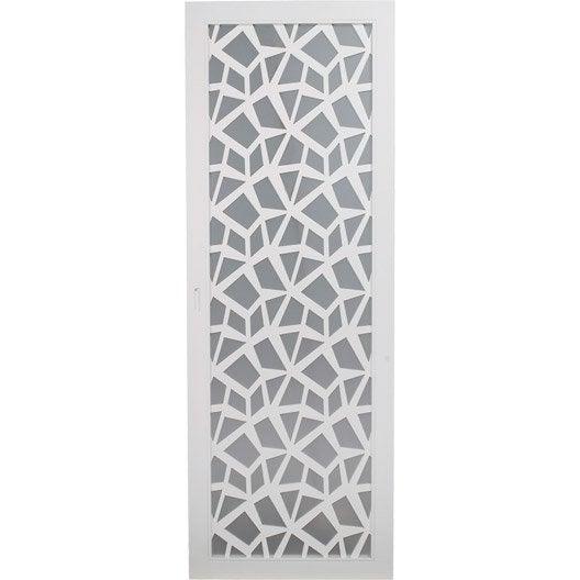 Porte coulissante plaqu blanc crash artens 204 x 73 cm for Porte coulissante 93 cm