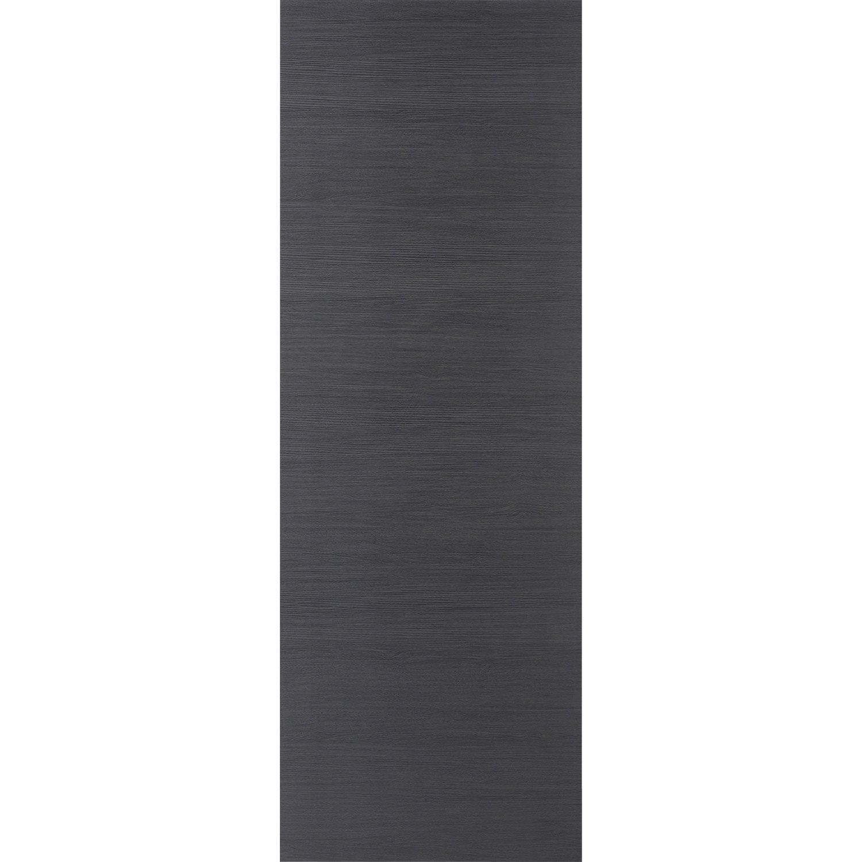 porte coulissante rev tu d cor ch ne gris londres 204 x 93 cm leroy merlin. Black Bedroom Furniture Sets. Home Design Ideas