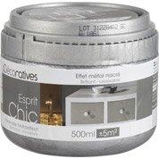 Peinture à effet Esprit chic métal LES DECORATIVES, platine, 0.5 L