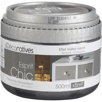 Peinture à effet Esprit chic métal nacré LES DECORATIVES, onyx, 0.5 l