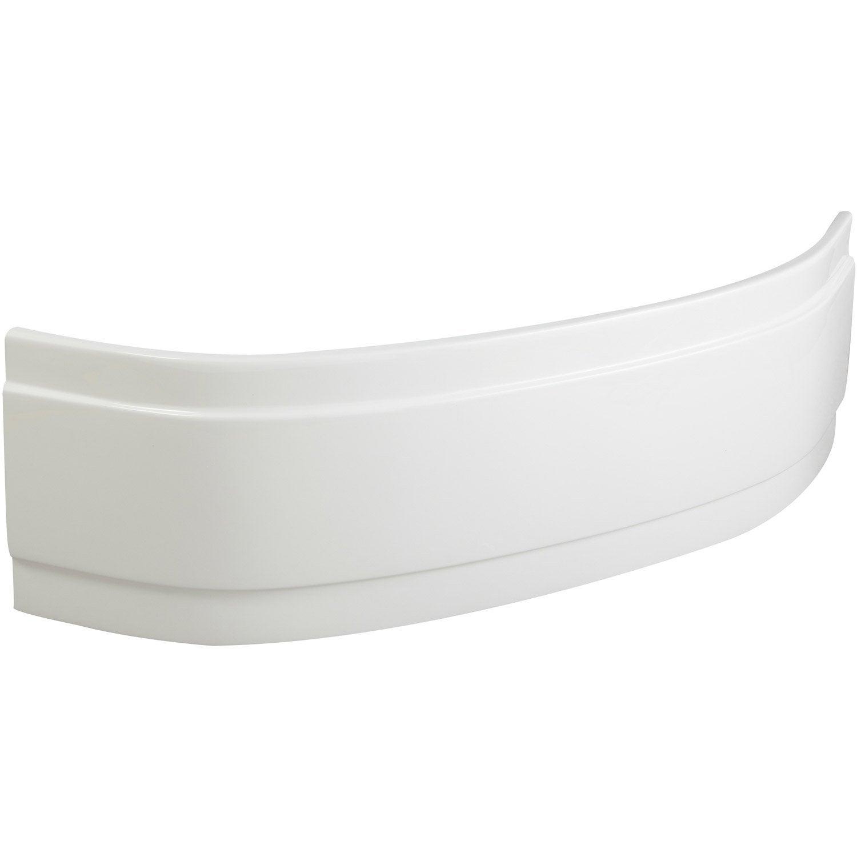 Tablier De Baignoire D Angle L 115x L 115 Cm Blanc Sensea Access