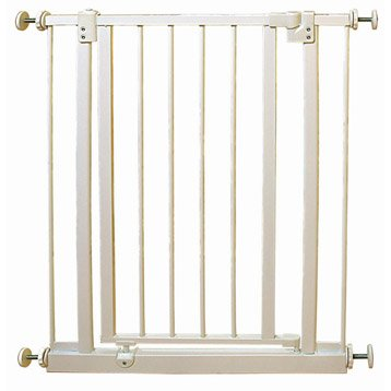Barrière de sécurité enfant Mistral métal,  long. min/max: 69/73cm, H75cm