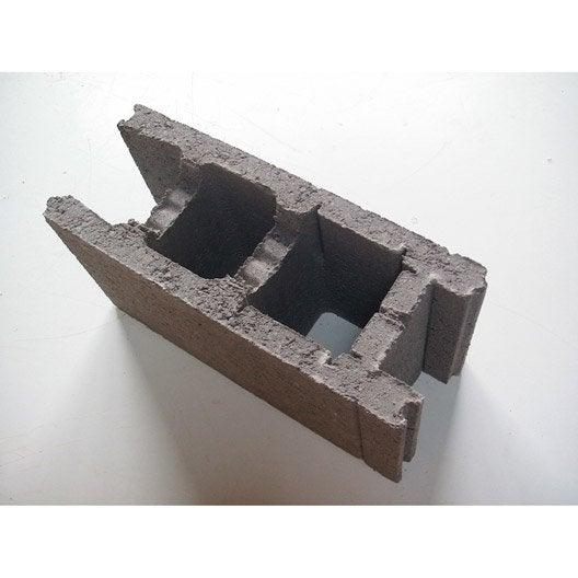 parpaing bancher 20x25x50 cm leroy merlin. Black Bedroom Furniture Sets. Home Design Ideas