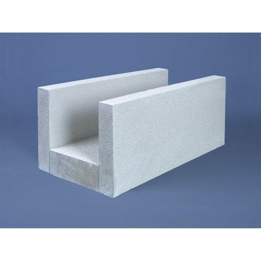 Bloc de cha nage b ton cellulaire 15x25x62 5 cm leroy merlin for Prix beton cellulaire
