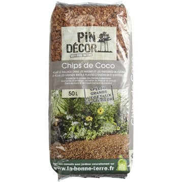 Paillis de coco PIN DECOR, 50 l