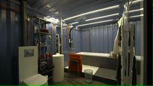 Container salle de bains