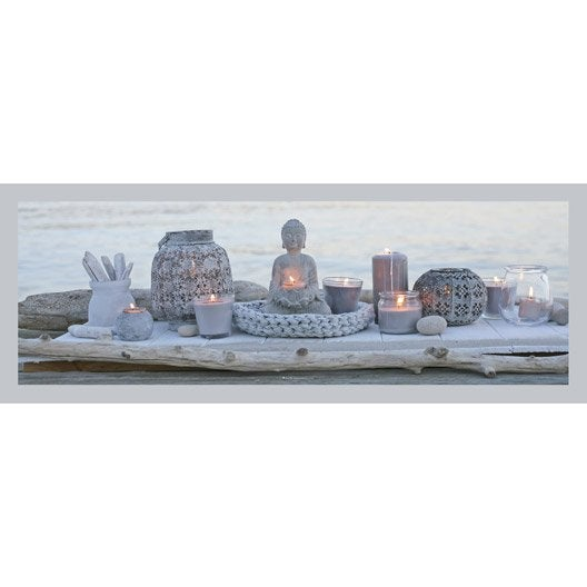 Toile led bouddha et bougies 140x45 cm for Miroir 90x30