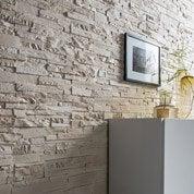 Plaquette de parement plâtre ivoire Antalya