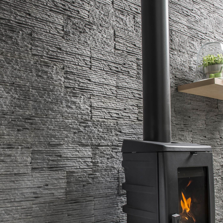 plaquette de parement b ton anthracite carena leroy merlin. Black Bedroom Furniture Sets. Home Design Ideas