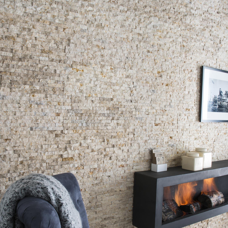 plaquette de parement pierre naturelle beige canyon leroy merlin. Black Bedroom Furniture Sets. Home Design Ideas