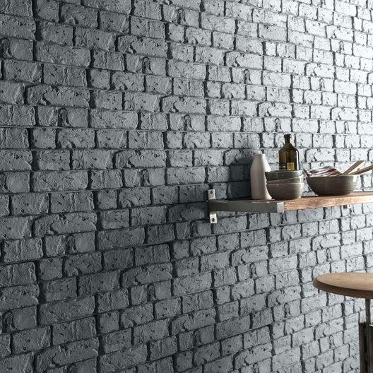 plaquette de parement pl tre anthracite harlem leroy merlin. Black Bedroom Furniture Sets. Home Design Ideas