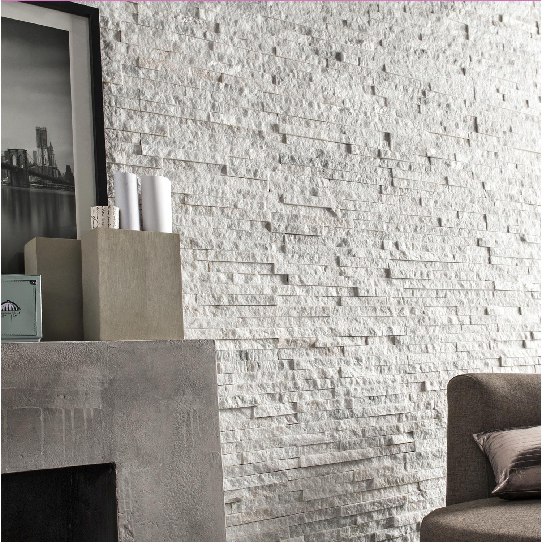 Accessoire Salle De Bain Pierre Grise ~ plaquette de parement pierre naturelle blanc ultra leroy merlin