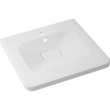 Plan vasque simple Shine Marbre de synthèse 60.0 cm