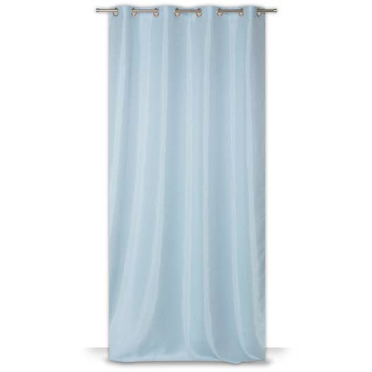 rideau tamisant copenhague bleu baltique 5 x cm leroy merlin. Black Bedroom Furniture Sets. Home Design Ideas
