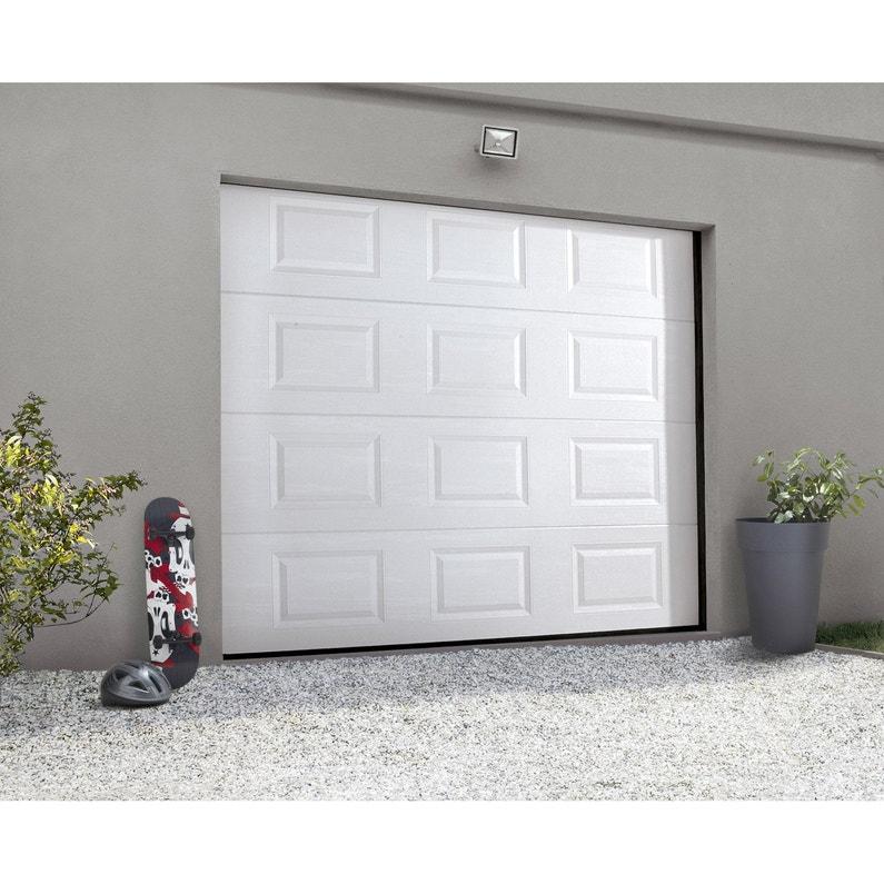 Porte De Garage Sectionnelle Motorisée Artens Essentiel H 212 X L 240 Cm
