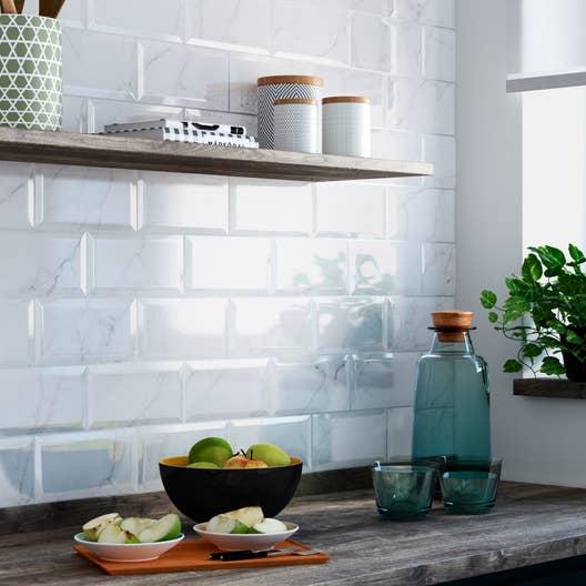 Faience Metro Blanc : fa ence mur blanc metro carrare x cm leroy merlin ~ Farleysfitness.com Idées de Décoration