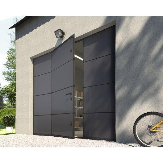Porte de garage sectionnelle motoris e artens essentiel - Porte de garage sectionnelle avec portillon lapeyre ...