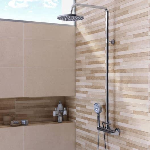 fa ence mur beige pierre x cm leroy merlin. Black Bedroom Furniture Sets. Home Design Ideas
