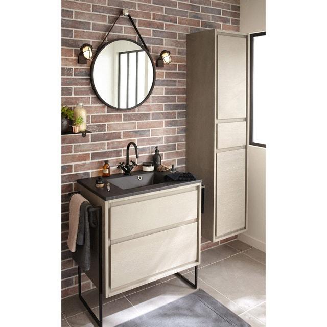 Un miroir rond dans la salle de bains | Leroy Merlin