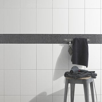 Faïence mur blanc, White l.25 x L.40 cm