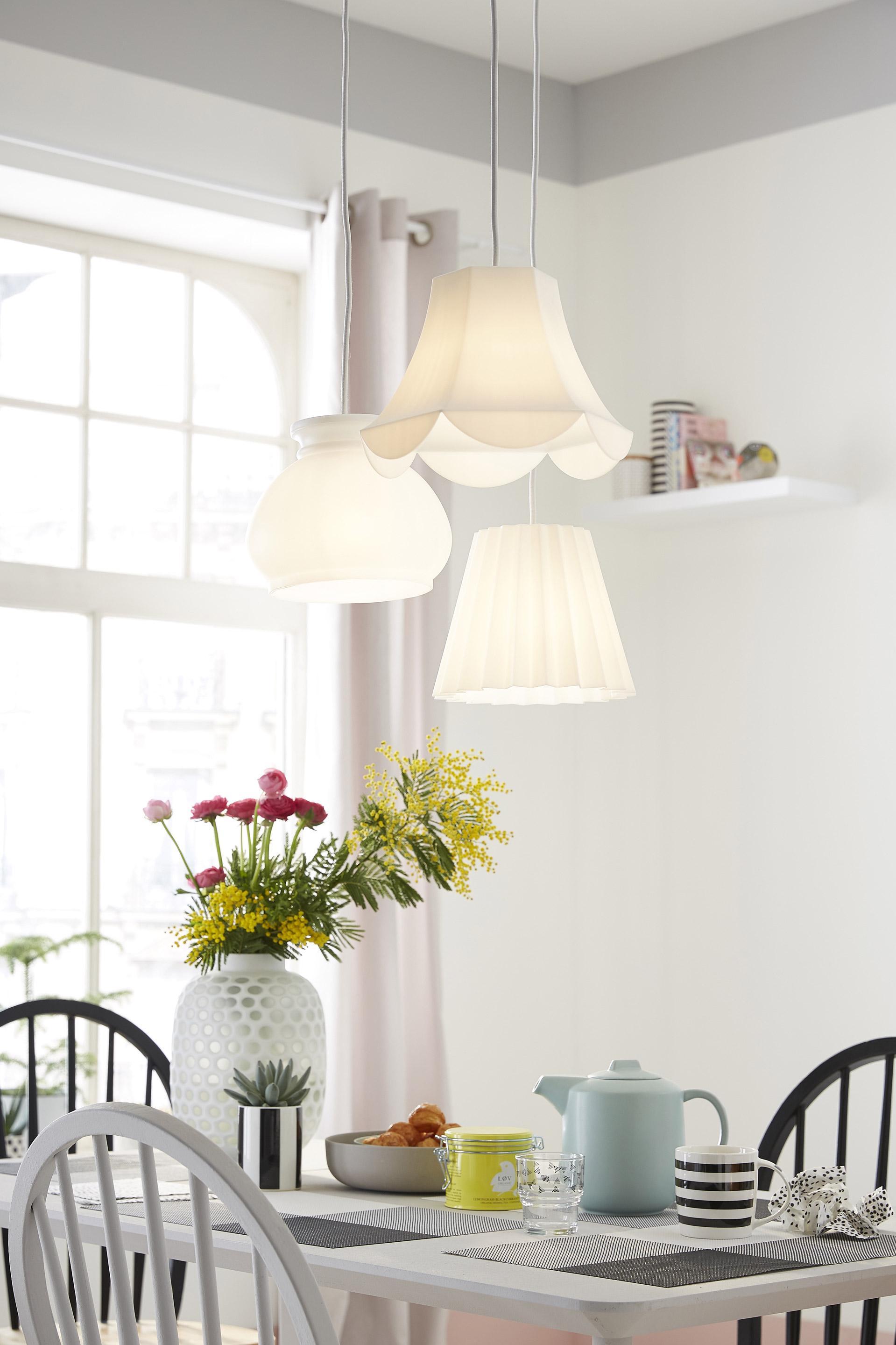 Suspension, design plastique blanc INSPIRE Norwalk 1 lumière(s) D.7.5 cm