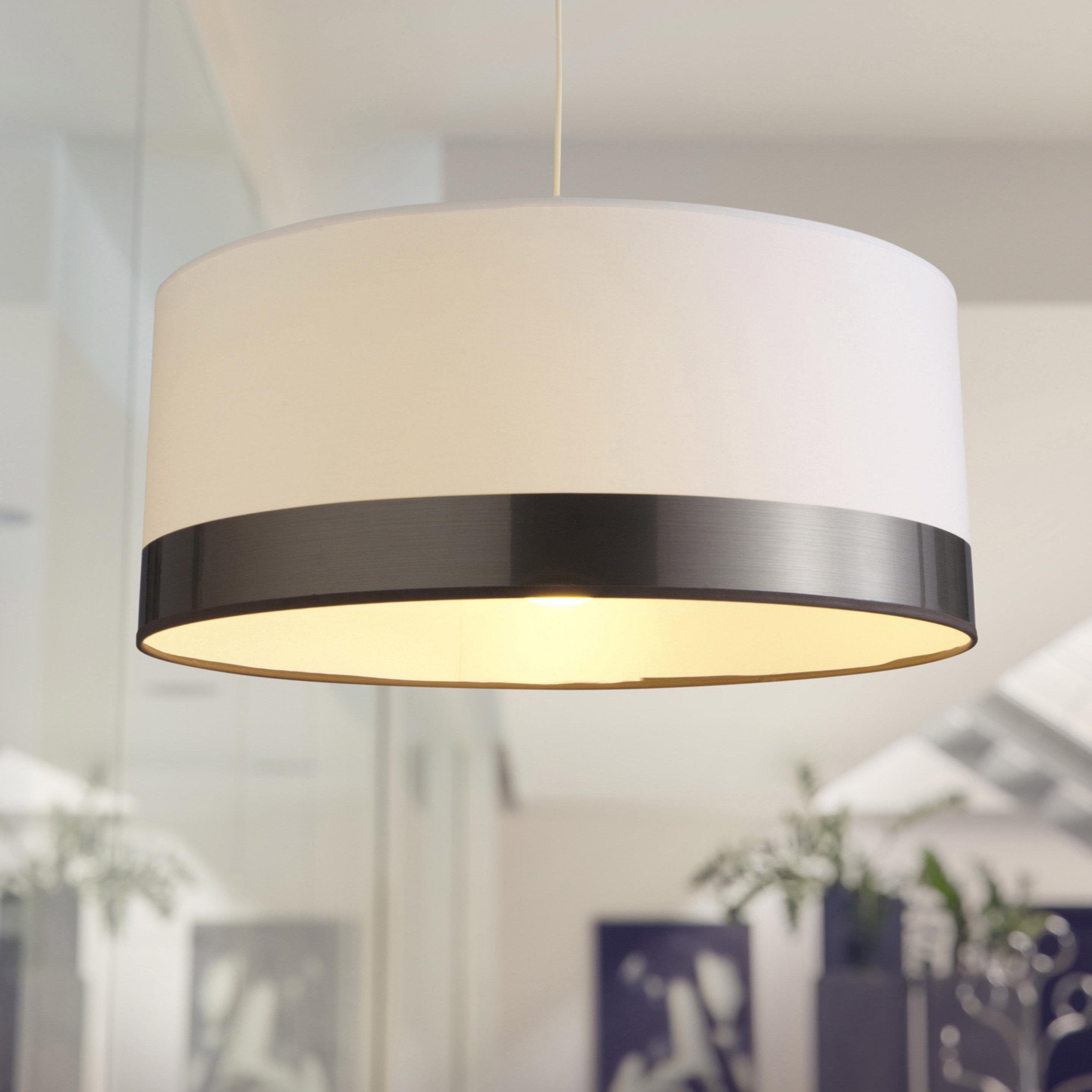 Suspension, e27 design Silver coton blanc 1 x 60 W METROPOLIGHT