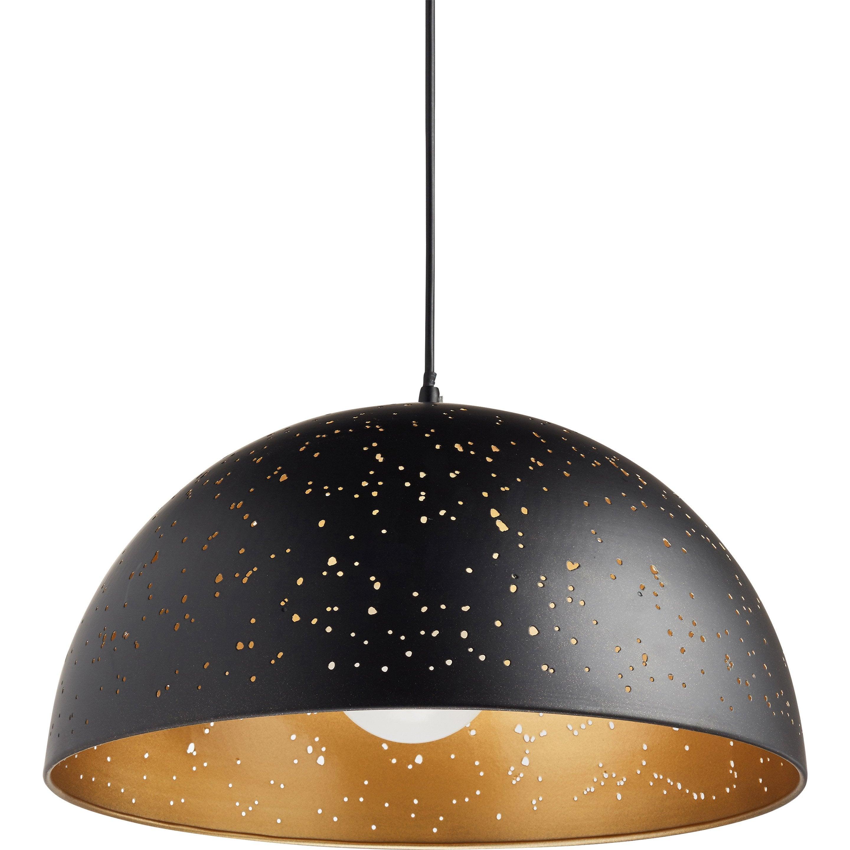 Suspension métal noir mat INSPIRE Ydro 1 lumière(s) D.40 cm