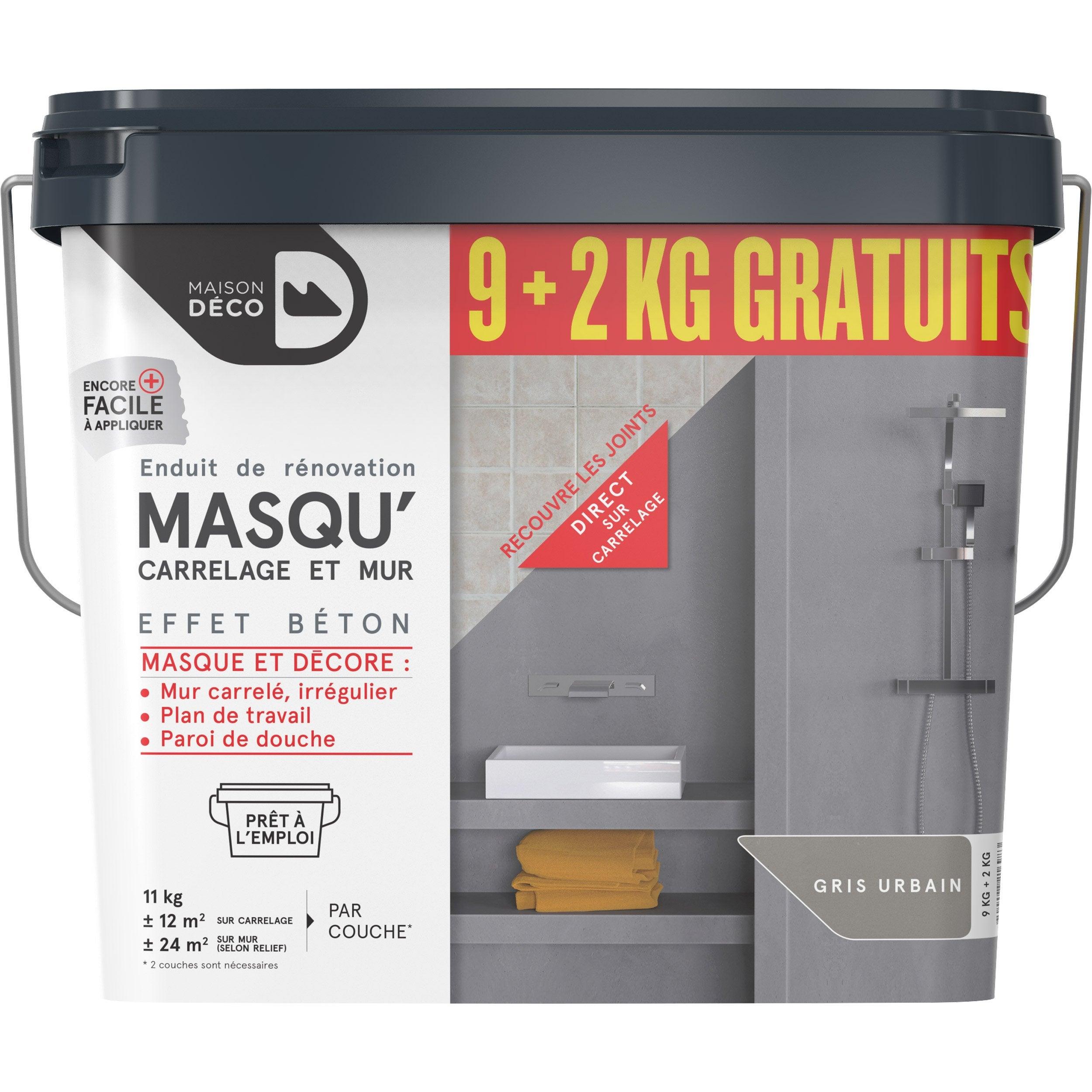 Enduit décoratif Masqu'carrelage et mur MAISON DECO, galet, 11 kg | Leroy Merlin