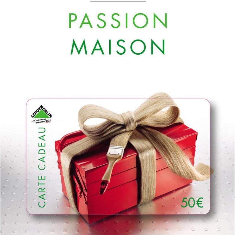 Carte Cadeau Passion Maison 50 Euros Leroy Merlin