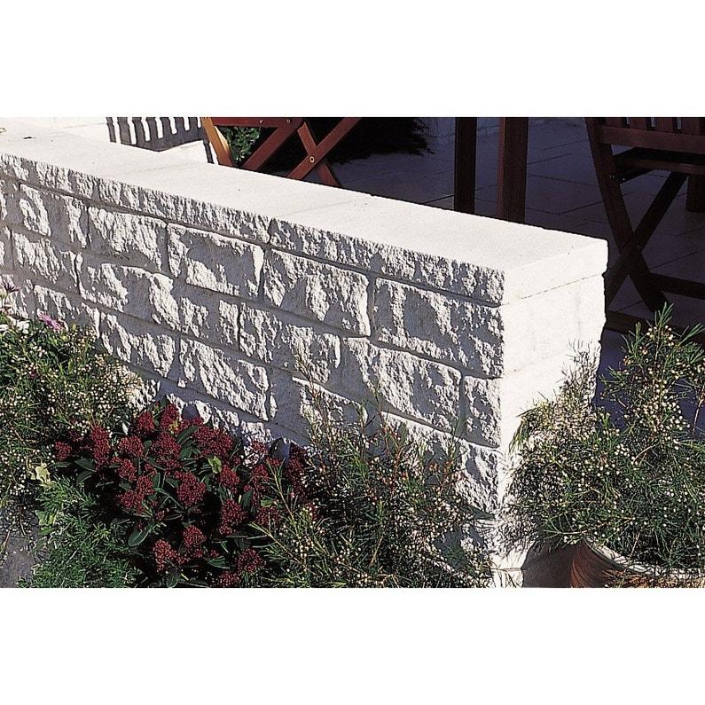 Couvre Mur Plat Pierre De Provence Imitation Pierre Blanc H5 X L25 X P50 Cm