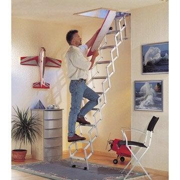 echelle de meunier escalier escamotable chelle pour grenier au meilleur prix leroy merlin. Black Bedroom Furniture Sets. Home Design Ideas