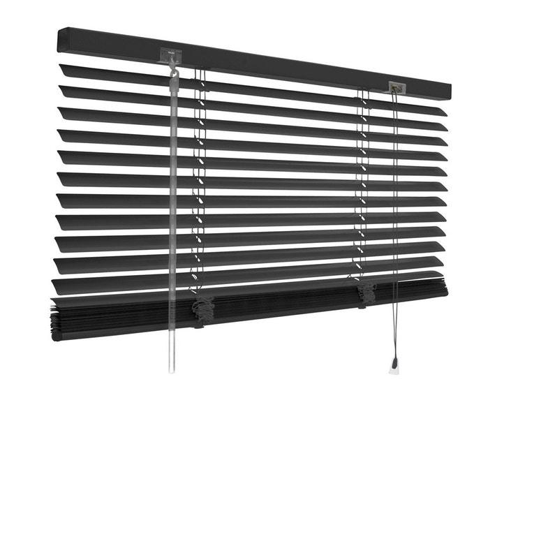 Store Vénitien Aluminium Noir Noir N 0 L 50 X H 180 Cm