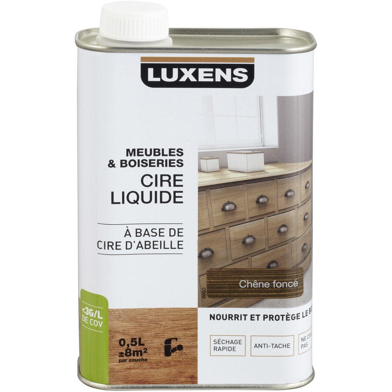 Cire liquide meuble et objets luxens 0 5 l ch ne fonc leroy merlin - Cire grise pour meuble ...