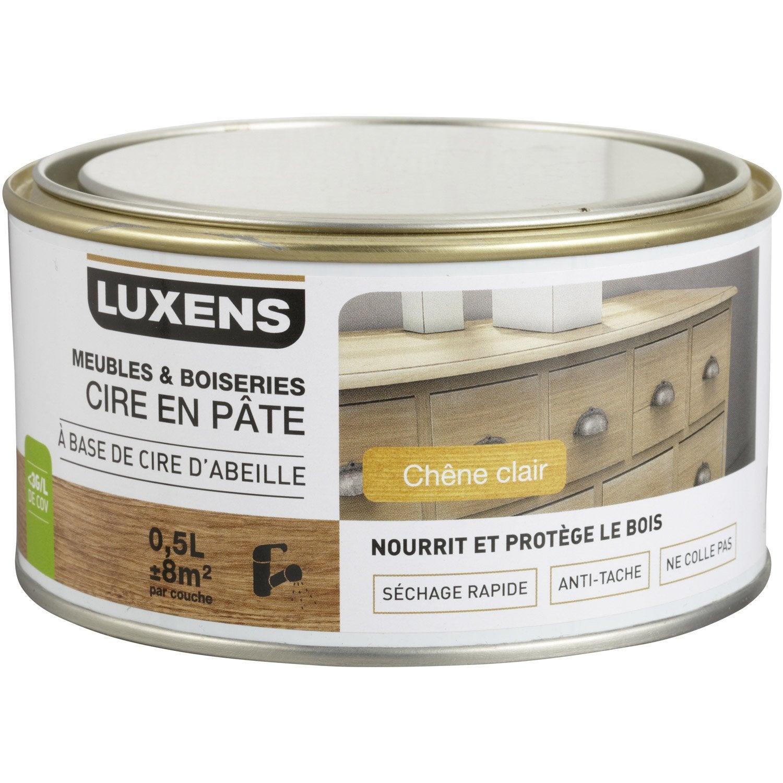 Tache D Eau Sur Bois Ciré cire en pâte meuble et objets luxens, 0.5 l, chêne clair