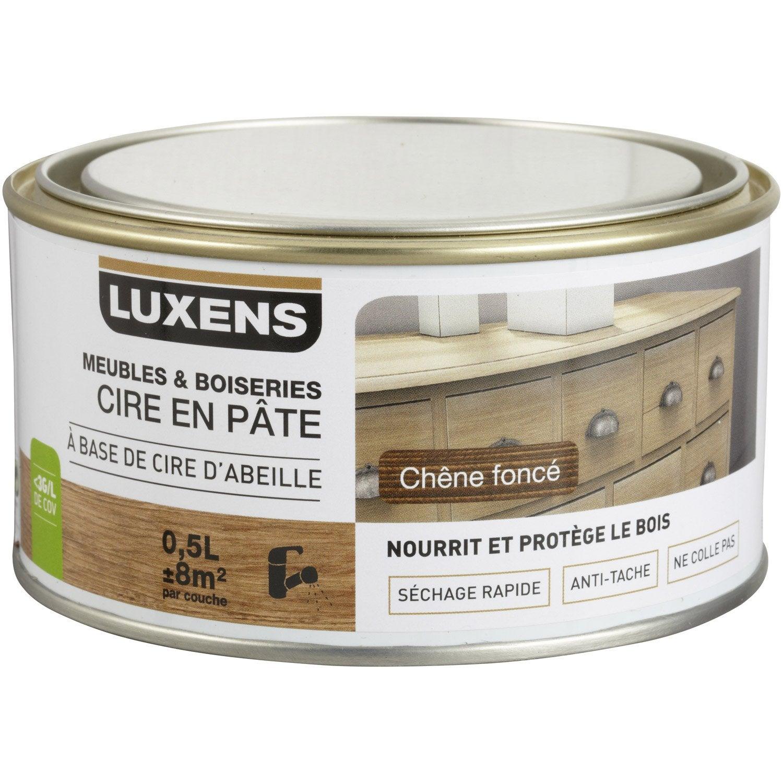 Eclaircir Un Meuble En Chene Fonce cire en pâte meuble et objets luxens, 0.5 l, chêne foncé