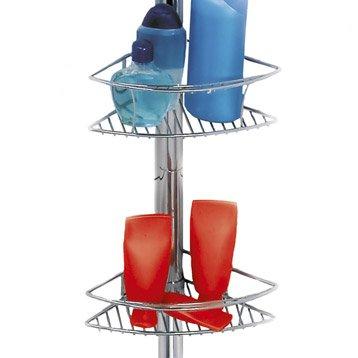 Tag re de douche accessoires et miroir de salle de bains leroy merlin - Etagere de douche telescopique inox ...