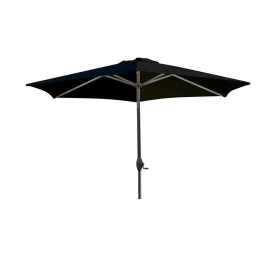 parasol droit marbella noir rond x cm leroy. Black Bedroom Furniture Sets. Home Design Ideas