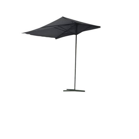 parasol droit gris rectangulaire x cm leroy. Black Bedroom Furniture Sets. Home Design Ideas