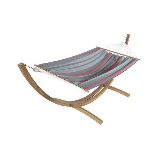 support et toile de hamac maracana jobek rouge gris leroy merlin. Black Bedroom Furniture Sets. Home Design Ideas