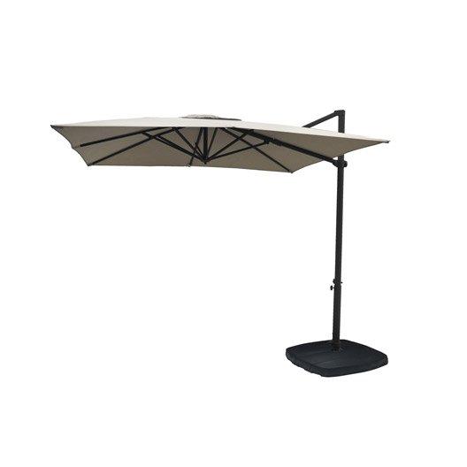 Parasol excentr gris dor 9 m leroy merlin - Pied parasol roulettes leroy merlin ...