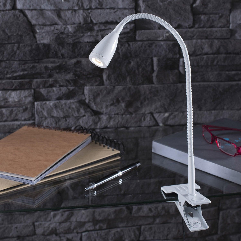 lampe de bureau led int gr e pince blanc led gao. Black Bedroom Furniture Sets. Home Design Ideas