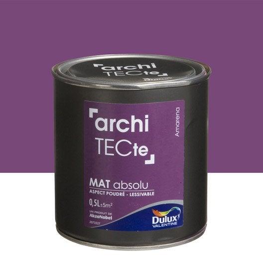 peinture violet amarena dulux valentine architecte 0 5 l leroy merlin. Black Bedroom Furniture Sets. Home Design Ideas