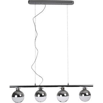 Suspension Atome COREP, transparent, 4x33 watts, diam. 80 cm