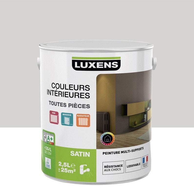 Peinture Gris Galet 6 Satin Luxens Couleurs Intérieures Satin 25 L