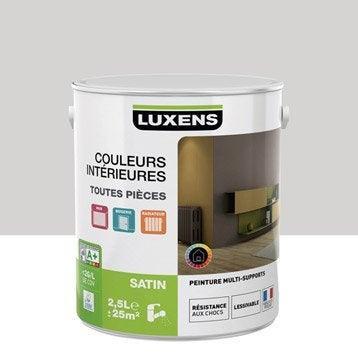 Peinture gris galet 6 LUXENS Couleurs intérieures satin 2.5 l